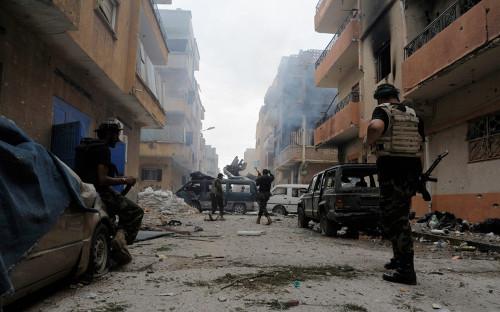 <p>Ливийские военные. Октябрь 2014 года</p>  <p></p>