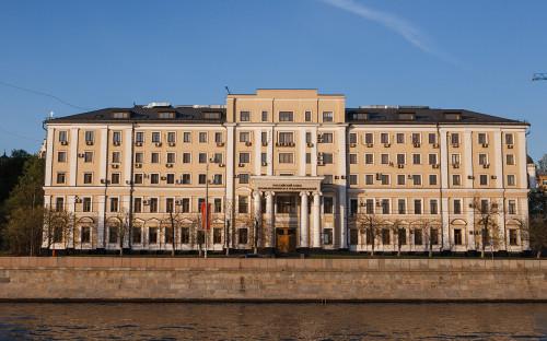 Вид на здание Российского союза промышленников и предпринимателей (РСПП)