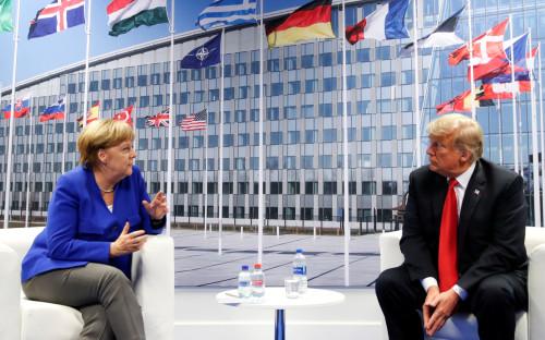 Дональд Трамп иАнгела Меркель