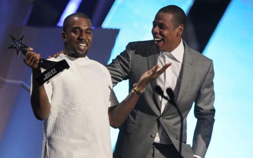 Канье Уэст (слева) и Jay-Z
