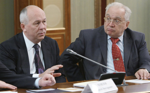 <p>Сергей Чемезов и Виктор Садовничий (слева направо)</p>