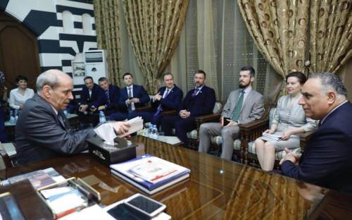 <p>Российская делегация в Сирии</p>  <p></p>