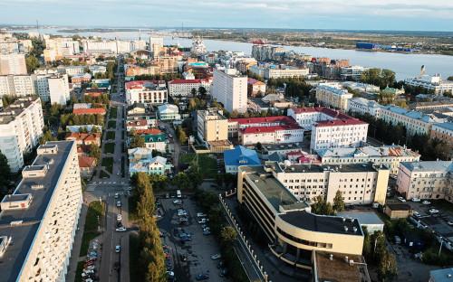 <p>Вид на Архангельск</p>