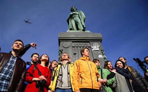 <p>Участники акции в Москве</p>  <p></p>