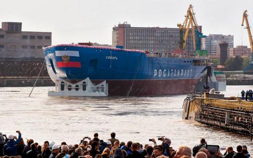 Ледокол «Сибирь» является серийным судном проекта 22220. Он был заложен в мае 2015 года. После спуска на воду будет проводиться достройка, которая должна завершиться в 2020 году.