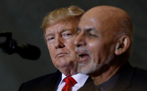 Дональд Трамп и президент Афганистана Ашраф Гани