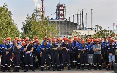 <p>Забастовка рабочих предприятия &laquo;Гродно Азот&raquo;</p>