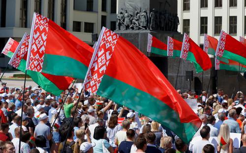 Митинг в поддержку президента Белоруссии Александра Лукашенко в Минске