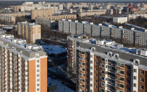 Вид на район Гольяново в Москве