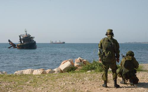Российские морские пехотинцыв Тартусе