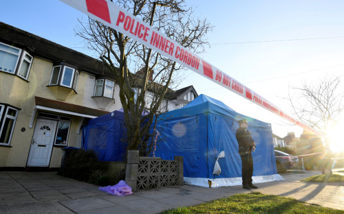 Полиция у дома Николая Глушкова в Лондоне