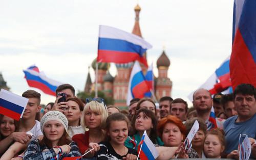 <p>Празднование Дня России на Красной площади</p>  <p></p>