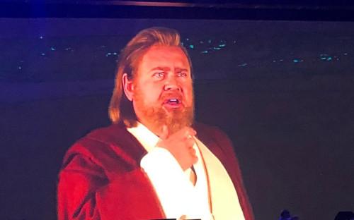 Андрей Костин в костюме джедая