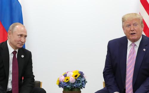 <p>Владимир Путин и Дональд Трамп</p>