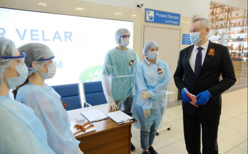Работа студентов-волонтеров в аэропорту Толмачево