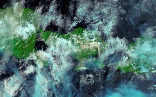 <p>Ноябрь 2017 года. Бали,&nbsp;Индонезия. Извержения вулкана Агунг&nbsp;</p>