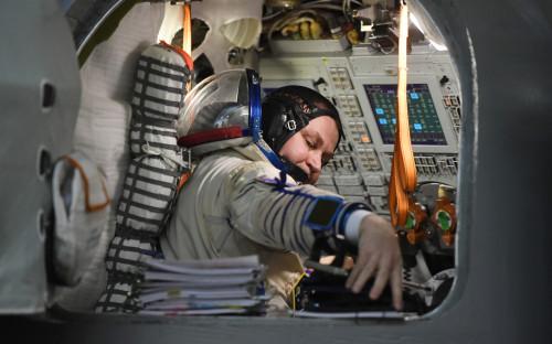 Космонавт «Роскосмоса» Алексей Овчинин перед началом комплексных экзаменационных тренировок в Центре подготовки космонавтов