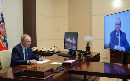 <p>Владимир Путин и Олег&nbsp;Мельниченко</p>
