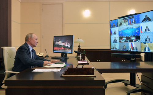 Встреча Владимира Путина с членами правления Общероссийской общественной организации «Российский союз промышленников и предпринимателей»