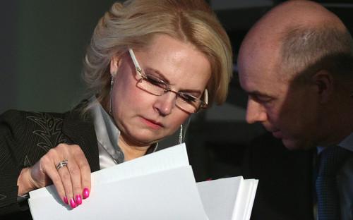 <p>Председатель Счетной палаты Татьяна Голикова и министр финансов Антон Силуанов</p>  <p></p>