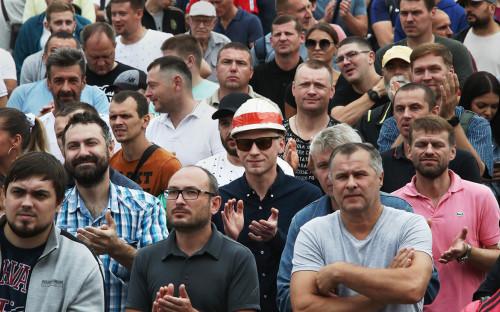 <p>Забастовка работников &laquo;Беларуськалия&raquo; в Солигорске</p>