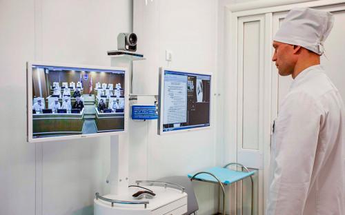 <p>Медицинский персонал Западного военного округа в&nbsp;многофункциональном медицинском центре в Нижнем Новгороде</p>