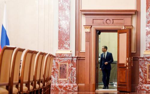 Дмитрий Медведев перед встречей с членами правительства
