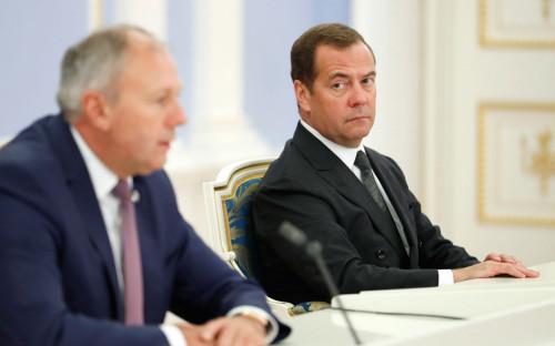 Сергей Румас и Дмитрий Медведев