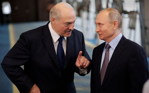 <p>Александр Лукашенко и Владимир Путин</p>