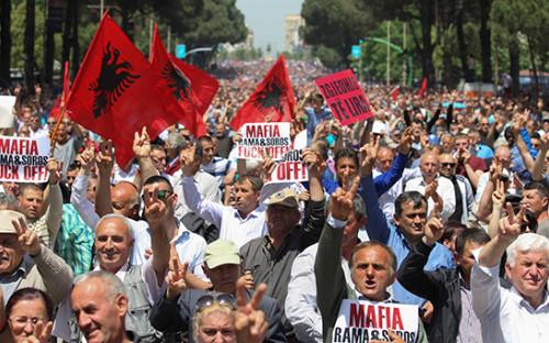 <p>Протесты в Албании</p>  <p></p>
