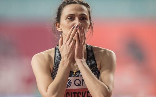 Мария Ласицкене на чемпионате мира в Дохе