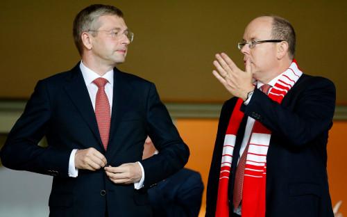 Дмитрий Рыболовлев (слева) и князь Альбер II (справа)