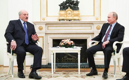 Александр Лукашенко и Владимир Путин (слева направо)