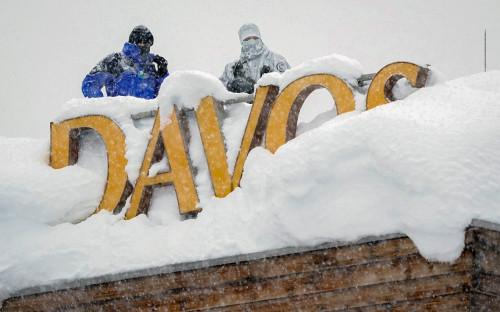 Снайперы на крыше отеля в Давосе. 22 января 2018 года