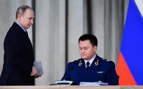 Владимир Путин и Игорь Краснов