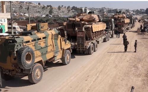 Конвой вооруженных сил Турции в провинции Идлиб<br /> <br /> &nbsp;