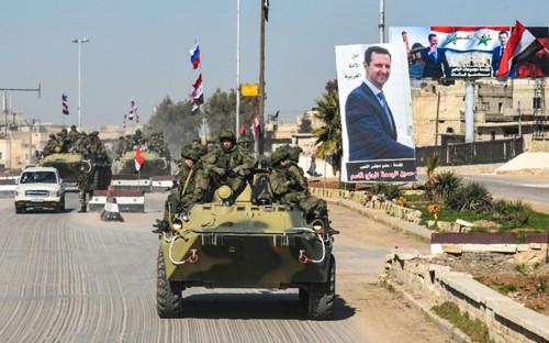<p>Российские саперы в Алеппо</p>  <p></p>