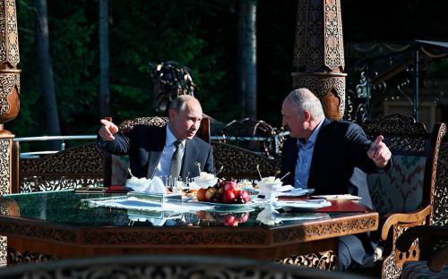 <p>Владимир Путин и Александр Лукашенко</p>