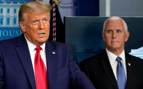 Дональд Трамп (слева) и Майк Пенс