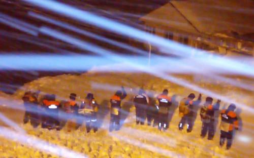 <p>Поисково-спасательные работы в поселке Домбай</p>