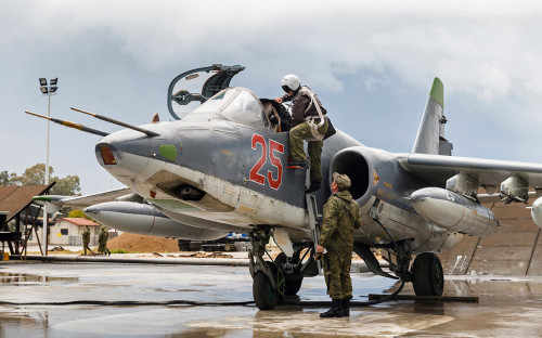 Российские военные на базеХмеймим. 16 марта 2016 года