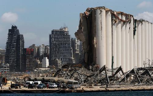 <p>Последствия взрыва в Бейруте, Ливан</p>