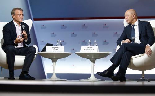 Президент Сбербанка России Герман Греф и Антон Силуанов