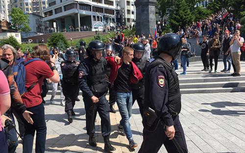 <p>Антикоррупционный митинг во&nbsp;Владивостоке</p>
