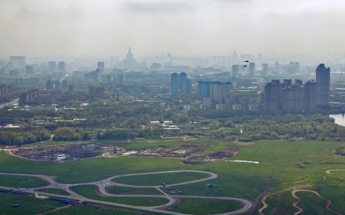 Вид на территории аэродрома Тушино в 2011 году