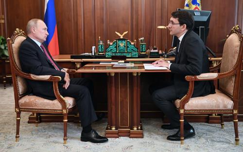 <p>Владимир Путин и Андрей Липов</p>