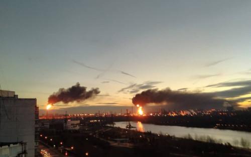 Пожар на НПЗ в Капотне