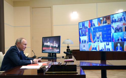 <p>Владимир Путин на заседании Совета безопасности</p>