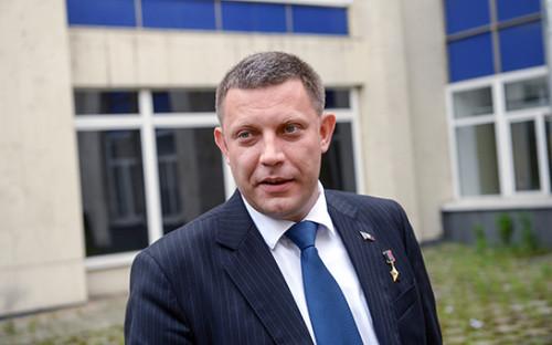 <p>Глава ДНР Александр Захарченко</p>