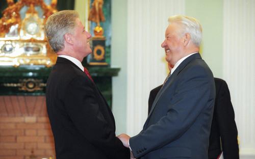 БиллКлинтон и Борис Ельцин. 1998 год